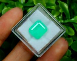 Muzo 4.60Ct Natural Colombian Vivid Green Color Muzo Emerald C1515