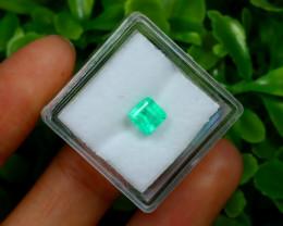 Muzo 1.02Ct Natural Colombian Emerald Neon Green Mint Beryl C1518
