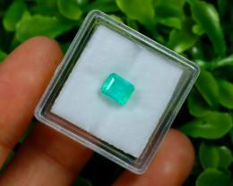 Muzo 1.10Ct Natural Colombian Vivid Green Color Muzo Emerald C1536