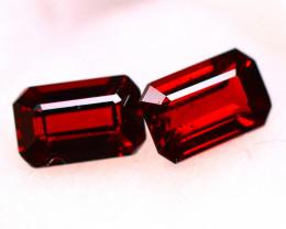 Almandine 2.62Ct 2Pcs Natural Red Almandine Garnet E1905/B3
