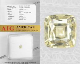 Sapphire 0.70 Cts Natural Yellow Madagascar Gemstone