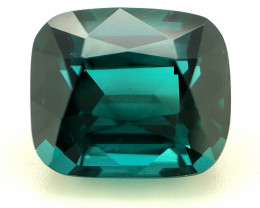 3.55ct Indicolite Tourmaline, Cushion, IF, Blue Natural Gemstone