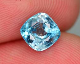 AAA Brilliance 1.40 ct Blue Zircon Cambodia ~ K