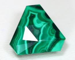 Malachite 11.52Ct Precision Master Cut Natural Green Malachite AT32