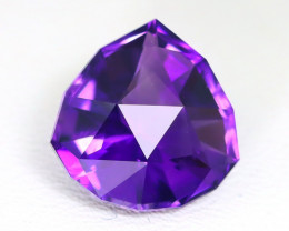 Amethyst 4.15Ct VVS Master Cut Natural Uruguay Violet Amethyst AT36