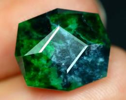 Maw Sit Sit 8.71Ct Precision Master Cut Natural Burmese Jadeite Jade AT39