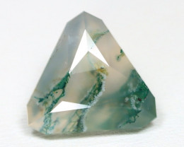 Moss 6.98Ct Precision Master Cut Natural Untreated Moss Agate AT45