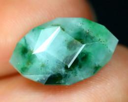 Jadeite Jade 5.64Ct Master Cut Natural Burmese Green Jadeite Jade AT52