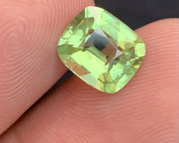 2.55 carats Green  colour Tourmaline Gemstone From  Afghanistan