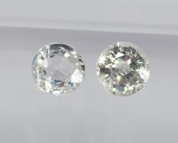 0.85ct unheated white sapphire