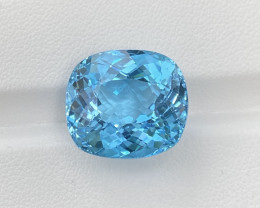 22.22 Cts Natural  Blue Topaz, Super Perfect Precision Cut Gemstone