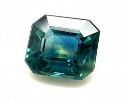 1.02ct Blue Sapphire from Australia, Octagon, Unheated, Natural Gemstone