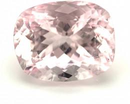 4.3ct Baby Pink Morganite, Cushion, VS, Portuguese Cut, Natural Gemstone
