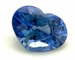 0.72ct Blue Sapphire, Heart, VVS, Sri Lanka, Ceylon Natural Gemstone