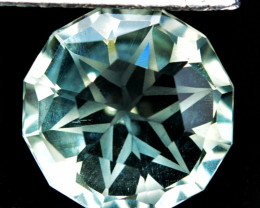 4.24 Cts Genuine 100% Natural Prasiolite Amethyst Round Custom Cut REF VI