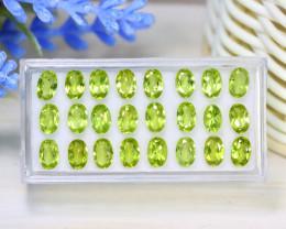 Peridot 11.47Ct VS2 Oval Cut Natural Neon Green Peridot Lot B1604
