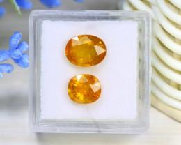 Sapphire 4.37Ct 2Pcs Oval Cut Natural Thailand Yellow Sapphire B1605