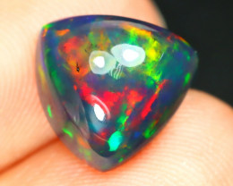 Opal 2.41Ct Natural Flash Color Ethiopian Welo Black Smoked Opal B1606