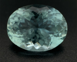 3.31ct Blue Aquamarine, Portugeuse Cut, Oval Brazil Natural Gemstone
