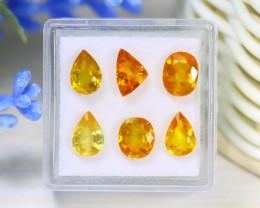 Sapphire 5.95Ct 6Pcs Natural Thailand Yellow Color Sapphire B1631