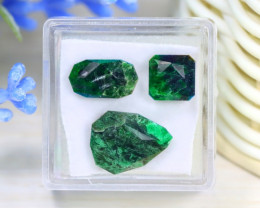 Maw Sit Sit 10.44Ct 3Pcs Master Cut Natural Burmese Jadeite Jade B1633