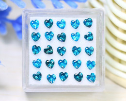 Zircon 3.93Ct VS2 Heart Cut Natural Cambodian Blue Zircon Lot C1706