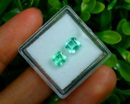 Muzo 1.50Ct Natural Colombian Emerald Neon Green Mint Beryl C1723