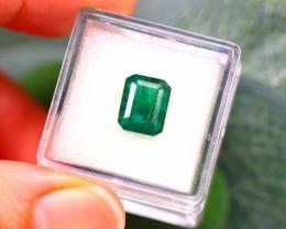 Emerald 3.00Ct Natural Zambia Green Emerald D2017/A38