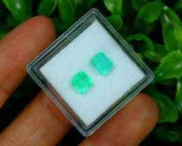 Muzo 1.32Ct Natural Colombian Vivid Green Color Muzo Emerald A1717