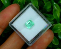 Muzo 1.32Ct Natural Colombian Emerald Neon Green Mint Beryl A1732