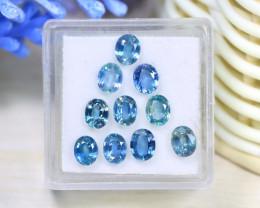Sapphire 4.41Ct 10Pcs Oval Cut Natural Cornflower Blue Sapphire A1734