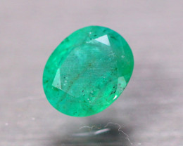 1.34Ct Natural Zambia Green Emerald Oval Cut Lot B4139
