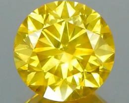 *$NR* Canary Yellow Round Diamond 1.42Ct