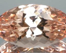 *$NR* Designers Dream Peach Morganite Navette 21.80Ct Certified