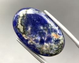 19.65 Ct Brilliant Sodalite with pyrite Shine Cabochon. Si-586