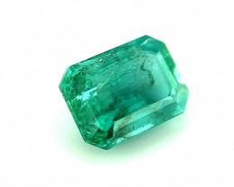 1.215(ct)Emerald Fine Color No Oil Gemstone