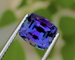 4.00Ct Unheated Tanzanite - Competition Level Cut - Loupe Clean