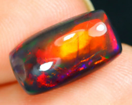 Opal 2.37Ct Natural Flash Color Ethiopian Welo Black Smoked Opal ST333