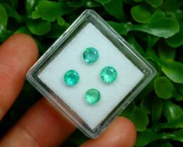 Muzo 1.22Ct 4Pcs Natural Colombian Green Color Muzo Emerald ST316