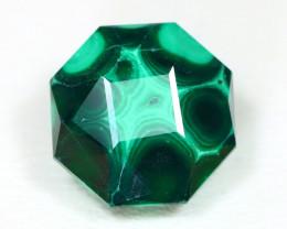 Malachite 7.74Ct Precision Master Cut Natural Green Malachite AT62