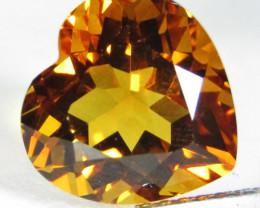 7.96Cts Genuine Natural Citrine Heart Shape Loose Gemstone REF VIDEO