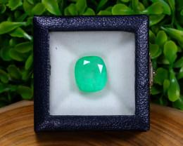 MUZO 15.82Ct Colombian Muzo Emerald Neon Mint Green Beryl Minor Oiled
