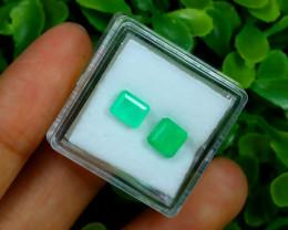 Muzo 1.75Ct Natural Colombian Vivid Green Color Muzo Emerald B1807