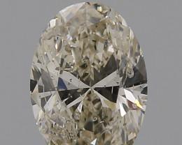 GIA 0.50 cts , Oval Brilliant Cut , M I1 , Faint Brown Diamond