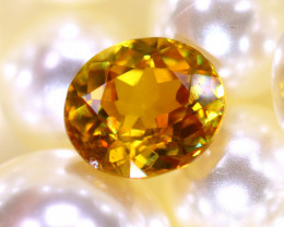Sphene  1.86Ct Natural Rainbow Flash Chartreuse Green Sphene DR575/A51