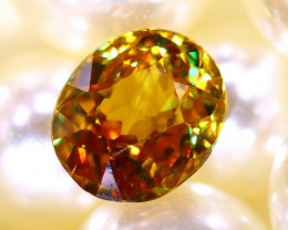 Sphene 1.68Ct Natural Rainbow Flash Chartreuse Green Sphene DR576/A51