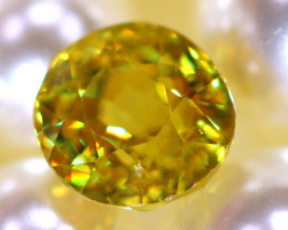 Sphene 1.97Ct Natural Rainbow Flash Chartreuse Green Sphene DR579/A51