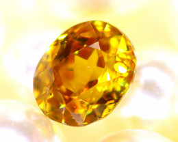 Sphene 2.18Ct Natural Rainbow Flash Chartreuse Green Sphene DR581/A51