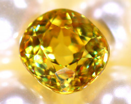 Sphene 1.97Ct Natural Rainbow Flash Chartreuse Green Sphene DR583/A51