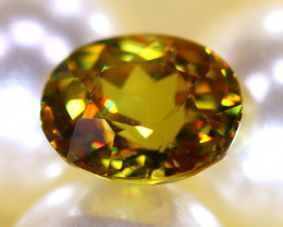 Sphene 1.58Ct Natural Rainbow Flash Chartreuse Green Sphene DR584/A51